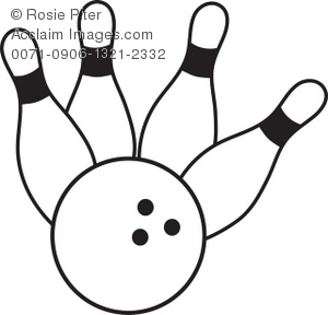 300x288 Art Illustration Of A Bowling Ball Crashing Into Pins