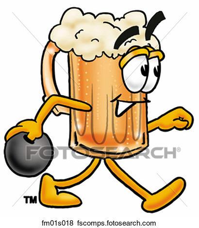 410x470 Clip Art Of Beer Mug Bowling Fm01s018