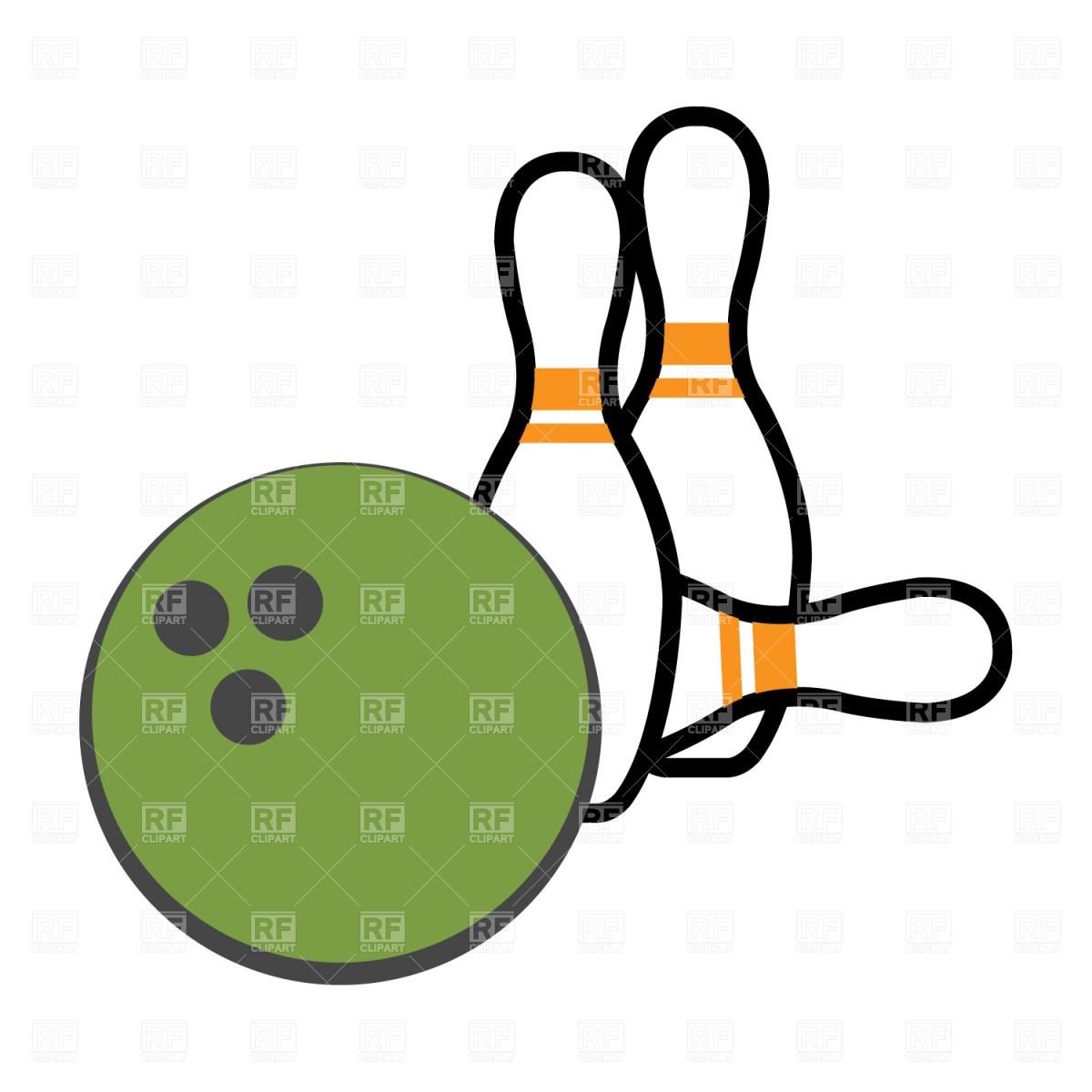 1200x1200 Bowling Pin And Ball Royalty Free Vector Clip Art Image