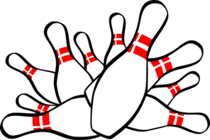 296x198 Bowling Pins Clip Art