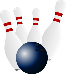 270x299 Bowling ball and pins clip art