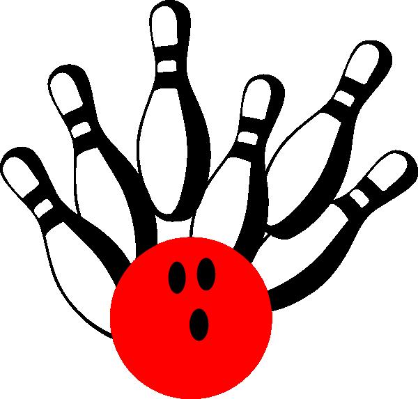 600x573 Bowling Pinred Clip Art