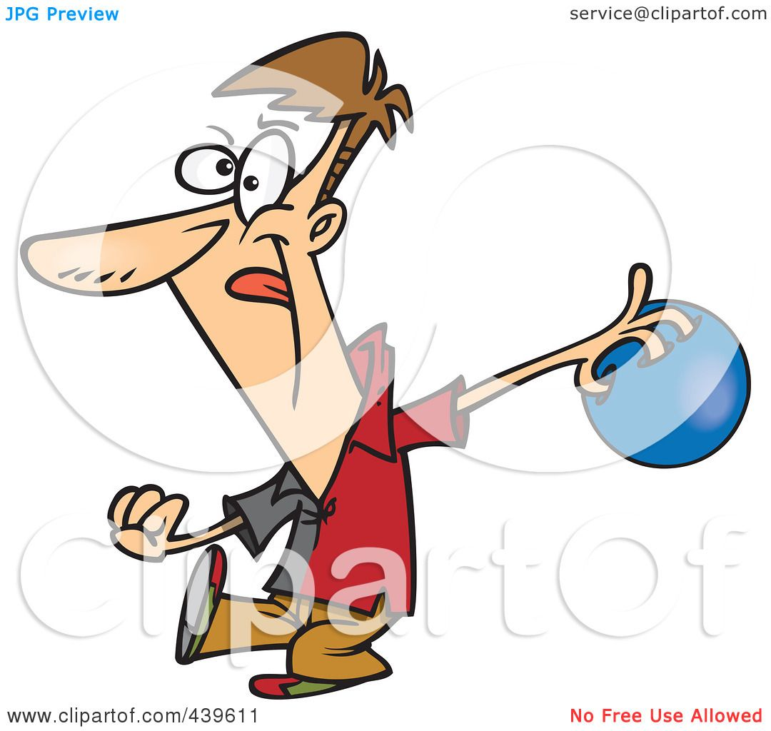 1080x1024 Cartoon Of A Man Licking His Lips And Holding A Bowling Ball