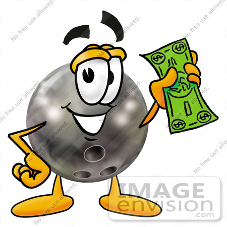 450x450 Cliprt Graphic Of Bowling Ball Cartoon Character Holding