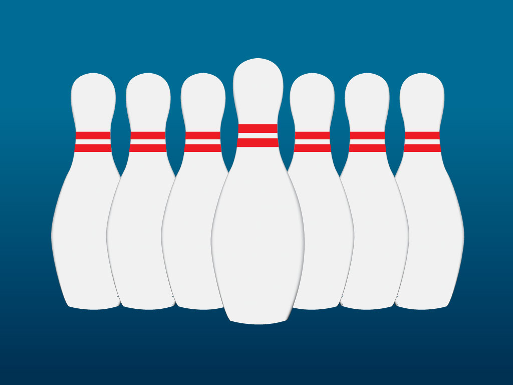 1024x768 Bowling Pins