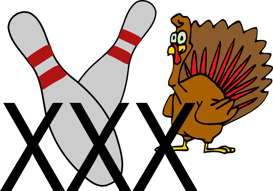 900x631 Bowling Turkey Clipart