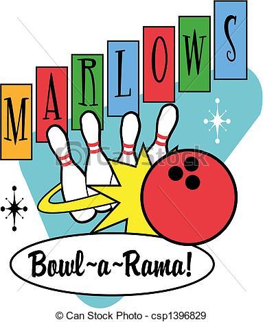 383x470 Bowling Clipart Retro Bowling