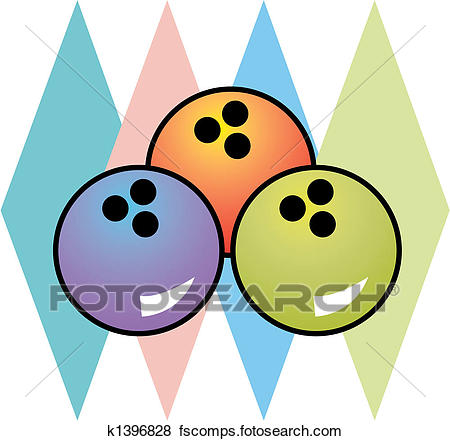 450x441 Clip Art Of Retro Vintage 1950s Bowling Logo K1396828