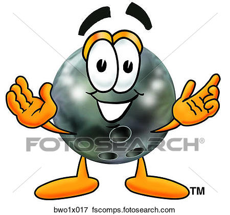 450x421 Clip Art of bowling ball with hands out bwo1x017