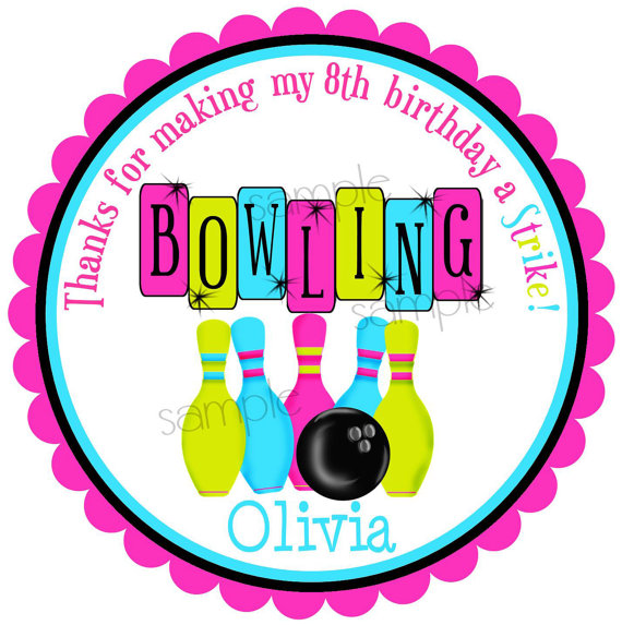 570x573 Bowling Stickers, Bowling Birthday Party, Cosmic Bowling