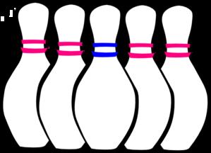 299x216 5 Pin Bowling Clipart