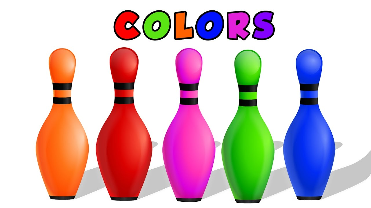 1280x720 Bowling clipart colorful