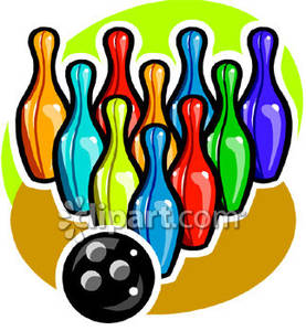 277x300 Ball With Colorful Bowling Pins