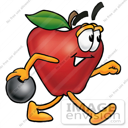 450x450 Cliprt Graphic Of Redpple Cartoon Character Holding