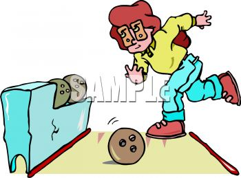 350x259 Royalty Free Clip Art Image Cartoon Of A Woman Bowling
