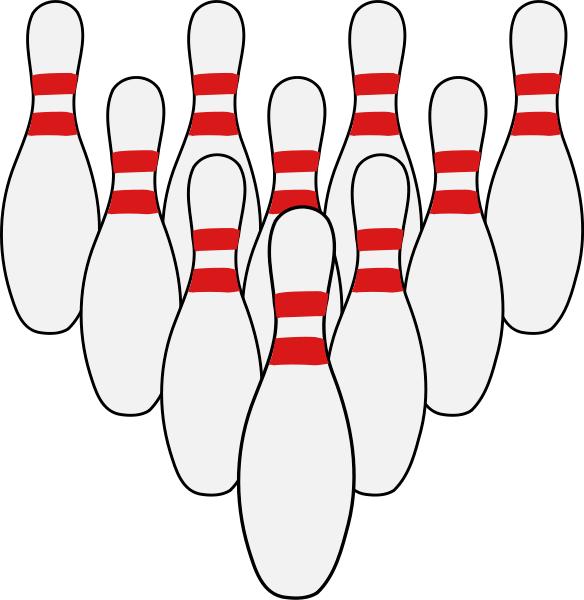 584x600 Ten Pin Bowling Clipart Free