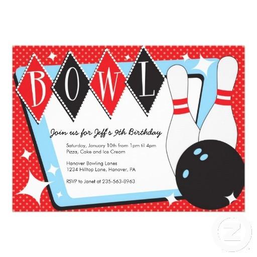 512x512 Free Printable Bowling Invitation Template