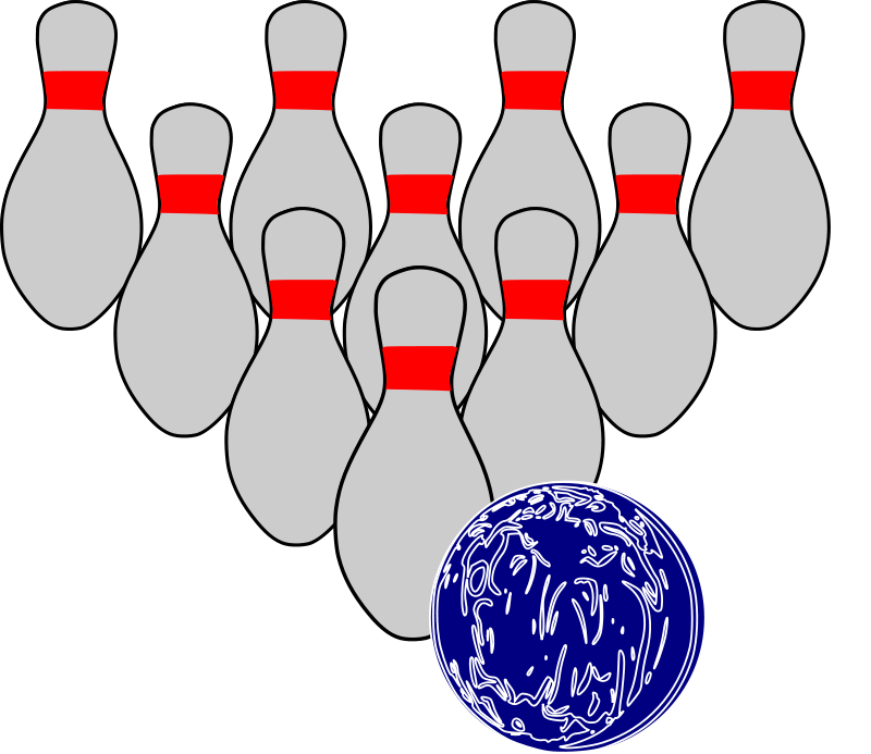 800x693 Bowling Pin Cartoon