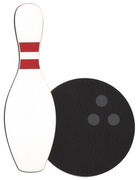 458x600 Bowling Pin And Ball Page Corner Laser Die Cut Scrappin