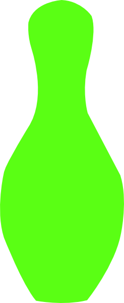 246x597 Lime Green Bowling Pin Clip Art