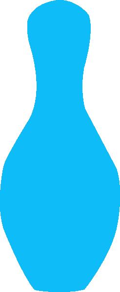 246x597 Aqua Bowling Pin Clip Art