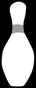 123x295 Bowling Pin Clip Art