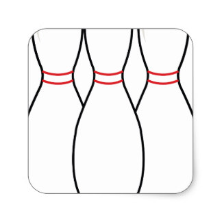 324x324 Bowling Pin Stickers Zazzle