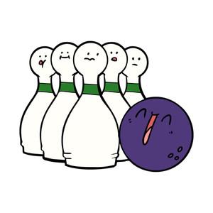 300x300 Bowler Bowling Ball Pins Retro Royalty Free Stock Image