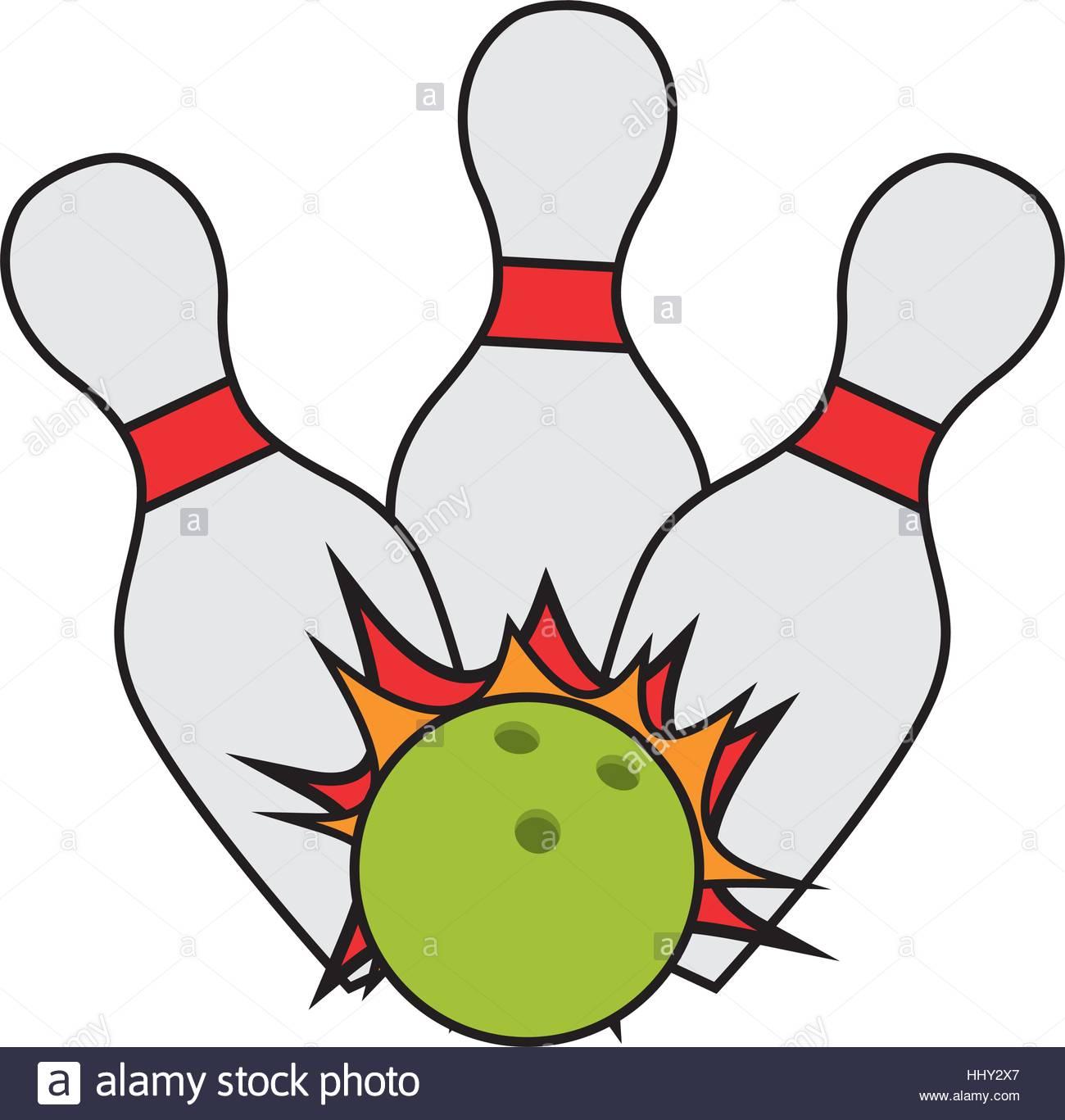 1300x1367 Bowling Ball Pin Strike Cartoon Stock Vector Art Amp Illustration