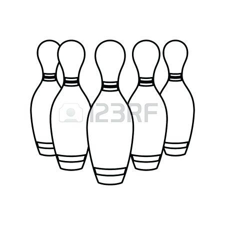 450x450 Bowling Pins Clipart Cartoon Illustration Showing A Bowling Ball