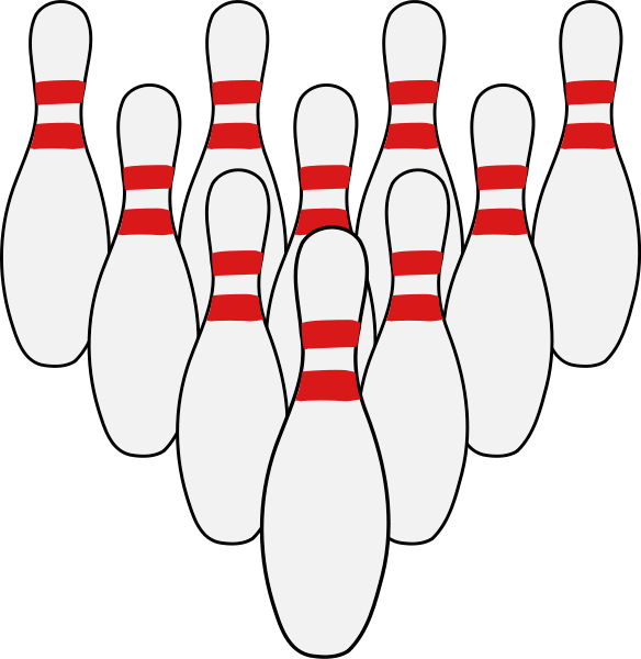 584x600 Bowling Pins Clip Art Many Interesting Cliparts