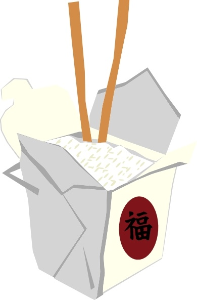 390x593 Chinese Take Out Box Clip Art Free Vector In Open Office Drawing