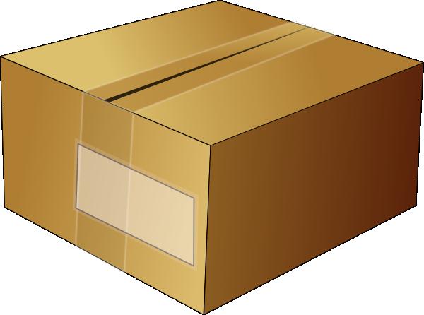 600x446 Closed Carton Box Clip Art