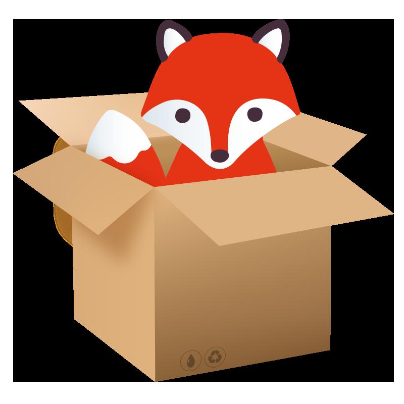800x800 Fox Clipart Box