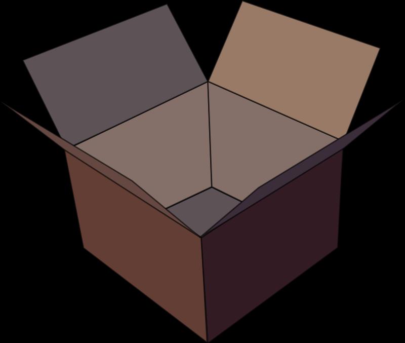800x677 Free Empty Brown Box Clip Art