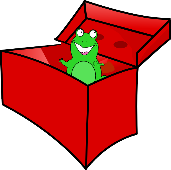 600x597 Frog In The Box Clip Art