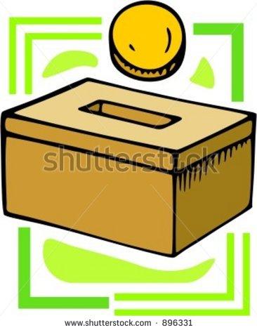 366x470 Money Box Clipart