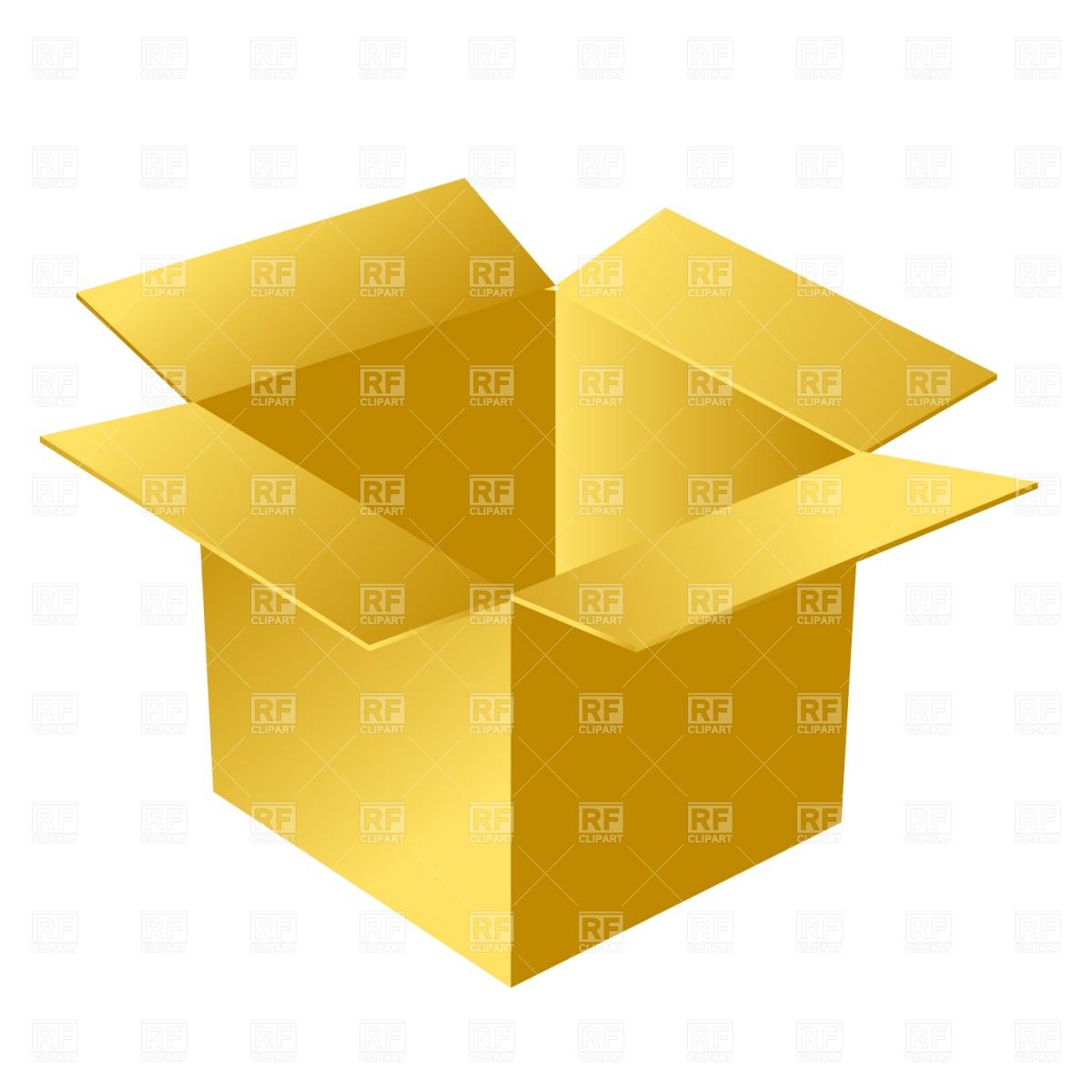 1200x1200 Open Cardboard Box Royalty Free Vector Clip Art Image