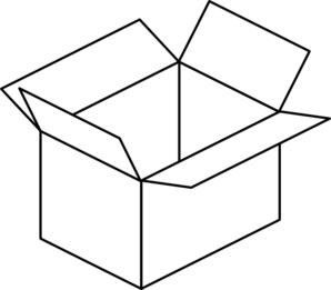 298x261 Box Clip Art