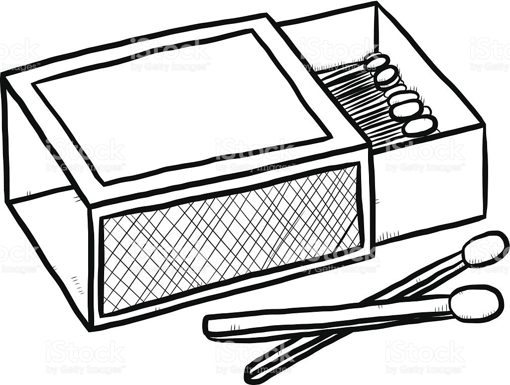 1024x773 Match Clipart Black And White