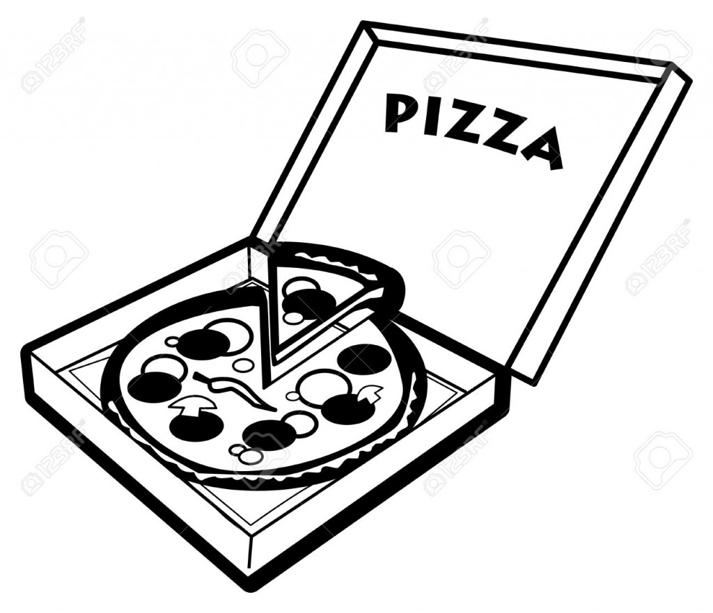 1024x881 Pizza Clipart Black And White