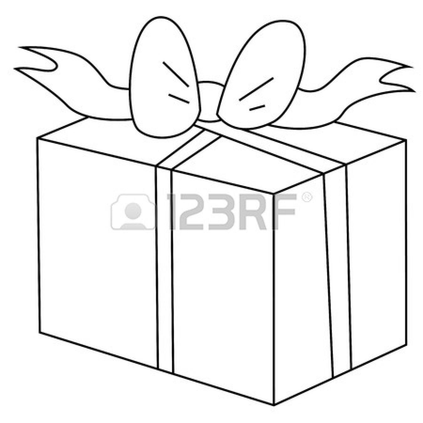 1350x1350 Black And White Present Clipart