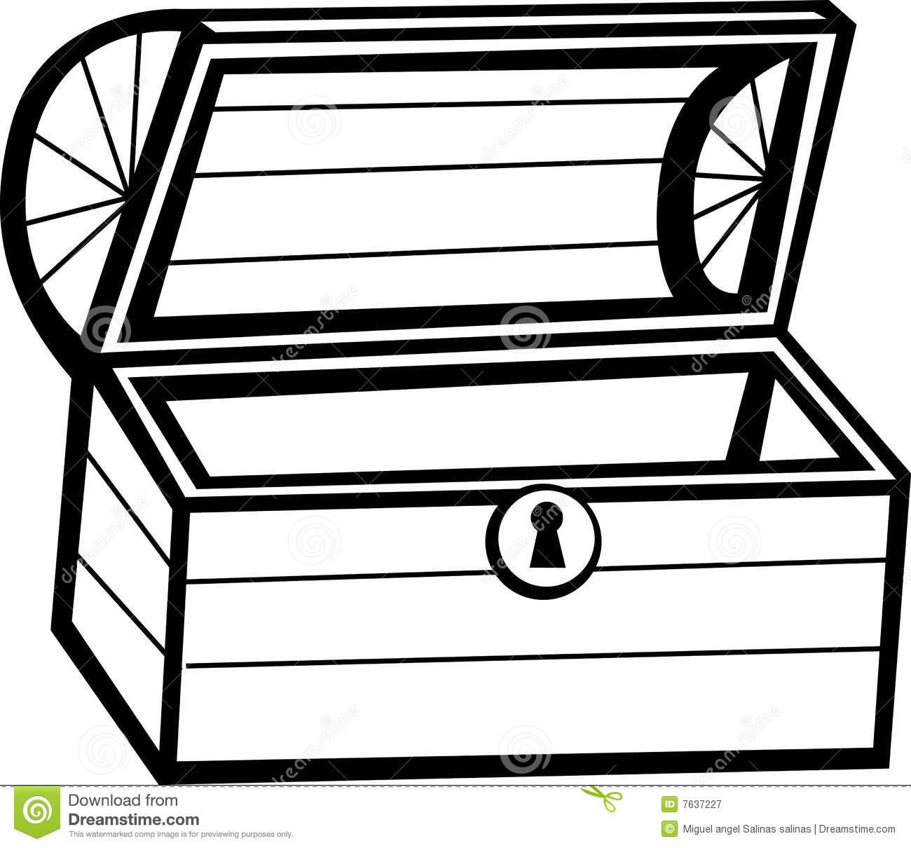 1300x1210 Treasure Box Black And White Clipart