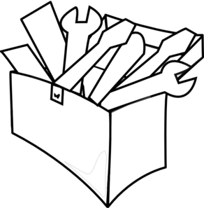 292x297 White Tool Box Clip Art