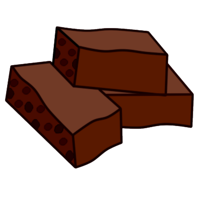 800x800 Brownie Clipart Transparent