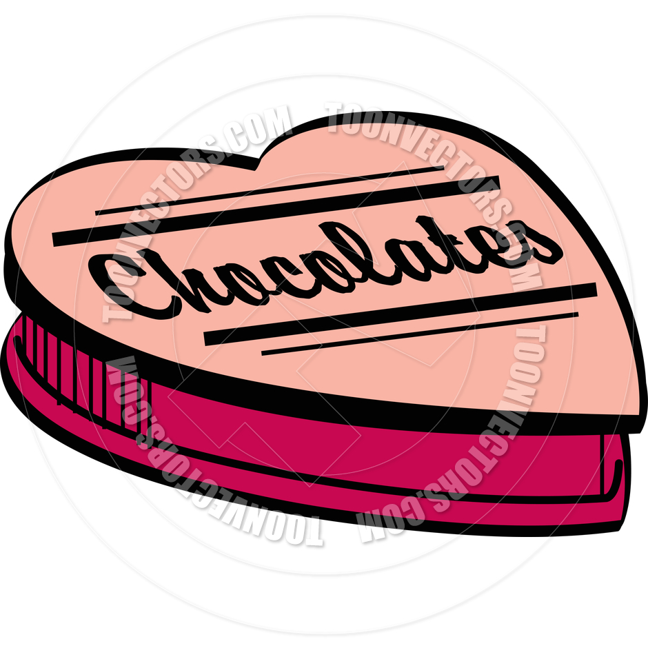 940x940 Cartoon Valentine Chocolates Vector Illustration By Clip Art Guy
