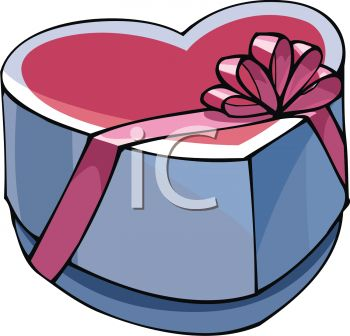 350x336 Picture Of A Heart Shaped Box Of Chocolates In A Vector Clip Art