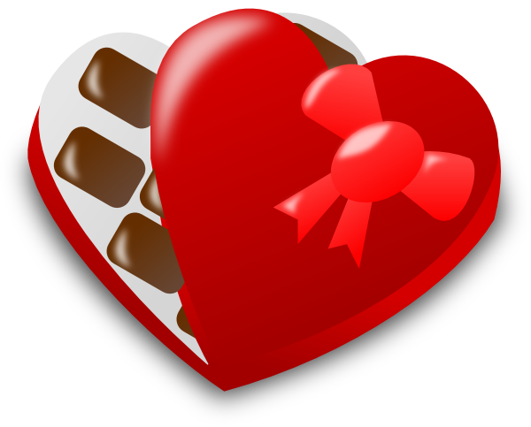 600x483 Valentine Chocolate Box Clip Art