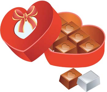 350x300 Box Of Chocolate Clipart