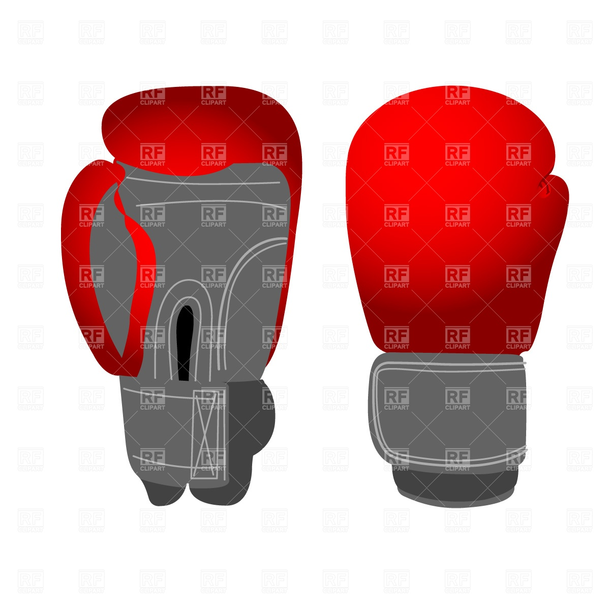 1200x1200 Boxing Gloves Free Vector Clip Art Image